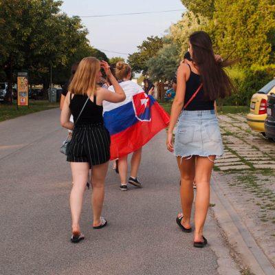 Alex so slovenskou vlajkou