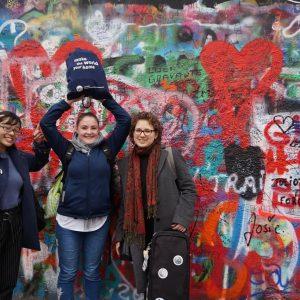 V Prahe s českými výmennými študentmi